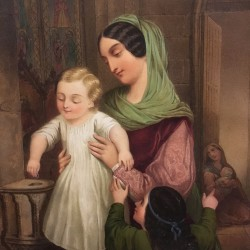 "\Heloise Suzanne Leloir (1820-1873) French Illustrator ""Mother and Child ,Adolf Sheer,1849"""