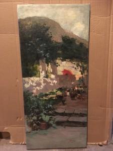 """The Red Umbrella"" Spanish school circa 1880"