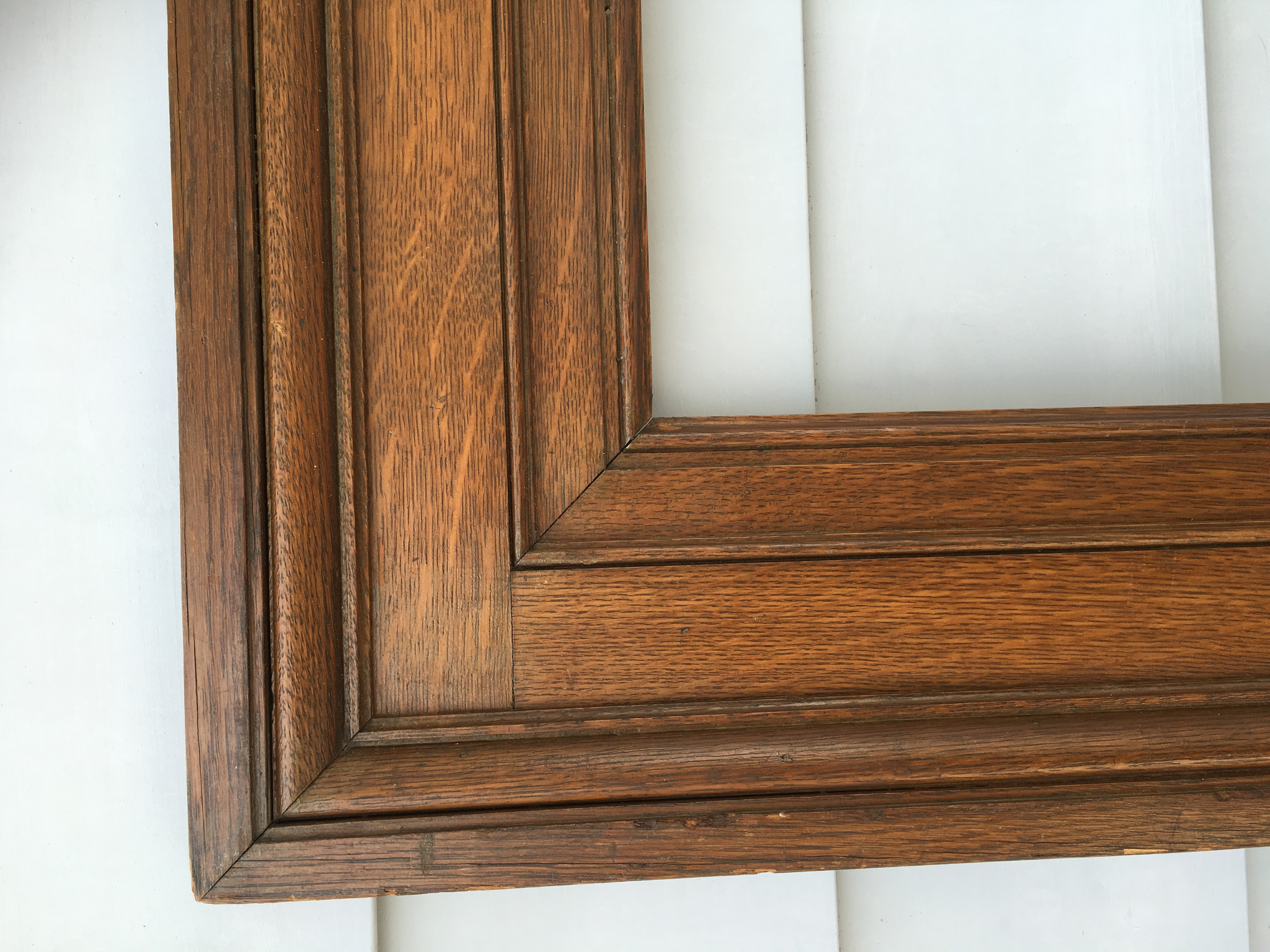 american arts and crafts pair of oak frames circa 1890