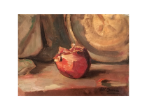 Henry Cannon [1862-1939] California Modernist Impressionist Painting Still life of Pomegranate, c.1920