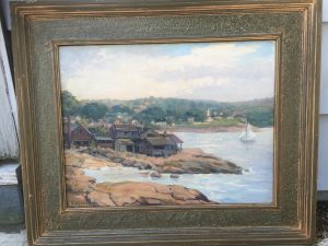 Jacob Greenleaf [1887-1968], American Impressionist, Bearskin Neck, Rockport, MA, c.1937