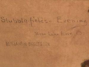 Benjamin Eggleston [1867-1937], American, Tonalist, Barbizon, Impressionist Painting, Stubble-Fields, Evening Near Lake Erie, Ohio, c.1870