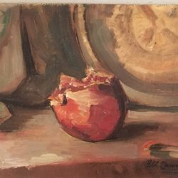 "Henry Cannon (1862-1939) California modernist impressionist painting"" Still life of Pomegranate"" ,circa 1920"