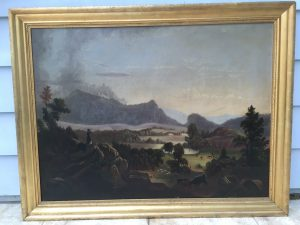 "American School ""Hudson River View "" circa 1850"