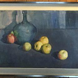 """Felix Revello de Toro (1926-) Spanish modernist painter """" Table Top still life"""" 1962"""