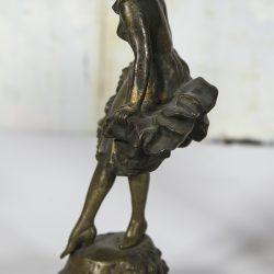 "Peter Tereszczuk [1875-1963] Austrian Sculptor Art Nouveau Dancers ""Pierrot and Pierrette"" circa 1900"