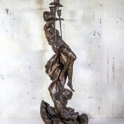 Louis Hottot [1829-1905] French sculptor bronzed metal Art Nouveau Gypsy Women Candelabrum circa 1880