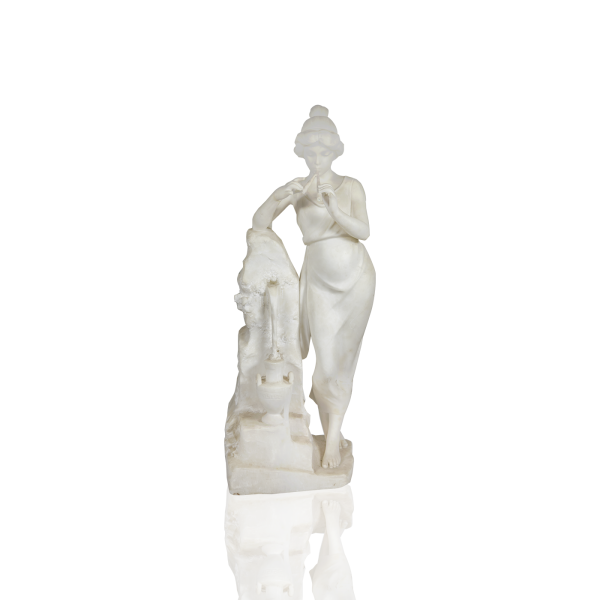 """Classical Marble """"Young Beauty,Music ,Waterfall """" circa 1880"""
