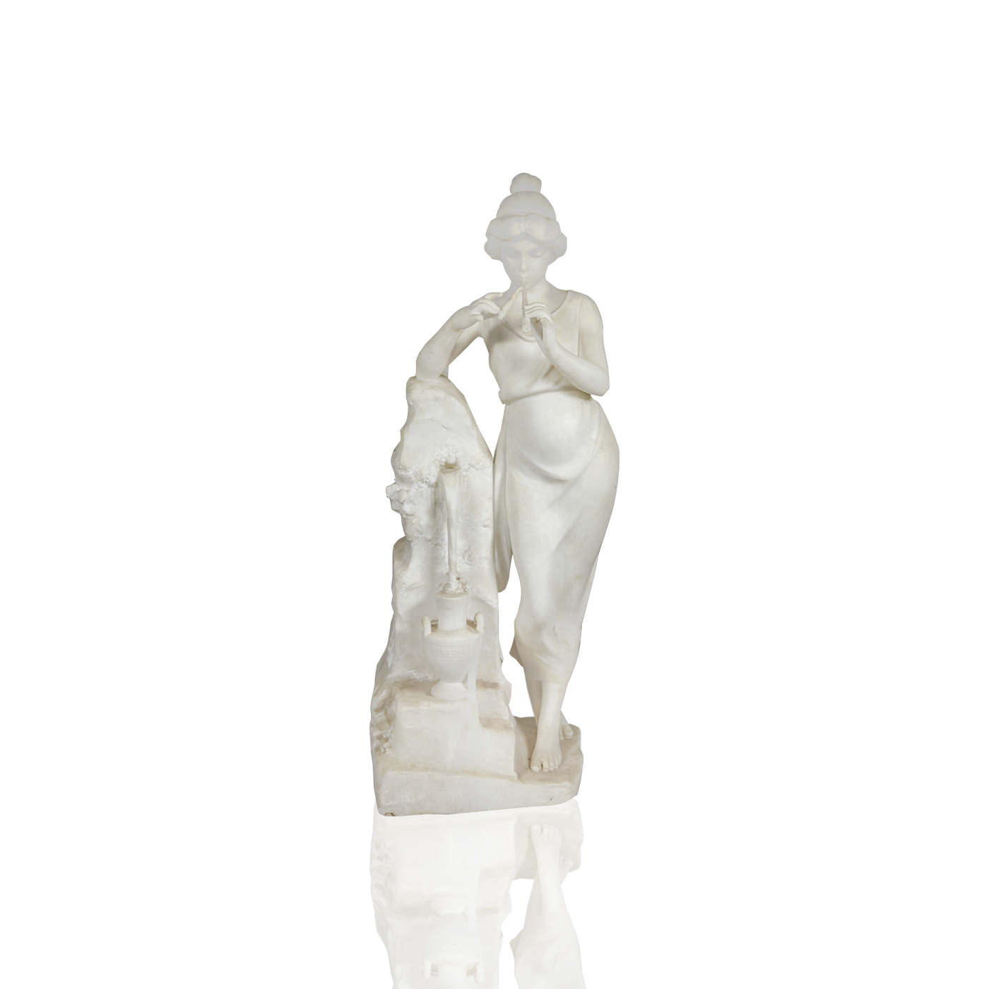 "Classical Marble ""Young Beauty,Music ,Waterfall "" circa 1880"