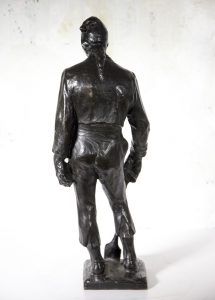 "Farpi Vignoli [1907-1997] Italian Sculptor Realistic BronzeFigure ""The Working Man"" circa 1930"