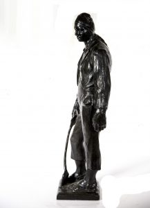 "Farpi Vignoli [1907-1997] Italian Sculptor Realistic BronzeFigure ""The Working Man"" circa 1930"