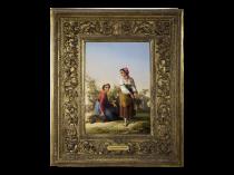 "John Linton Chapman [1839-1905] American Genre Artist "" Roman Women "" dated 1875"