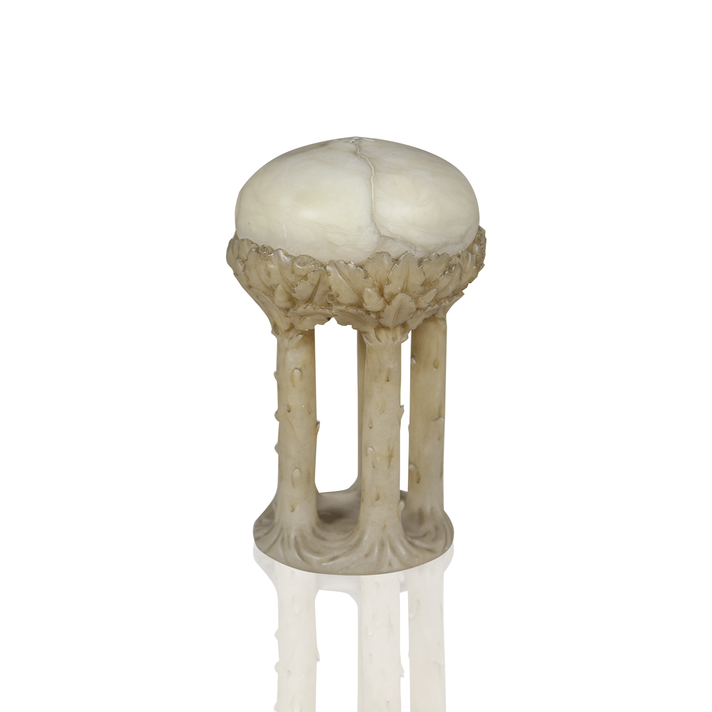 "Art Nouveau Marble Lamp ""Trees in the Forest"" circa 1890"