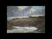 Lorenzo Delleani [1840-1908] Italian impressionist Seascape ,circa 1896
