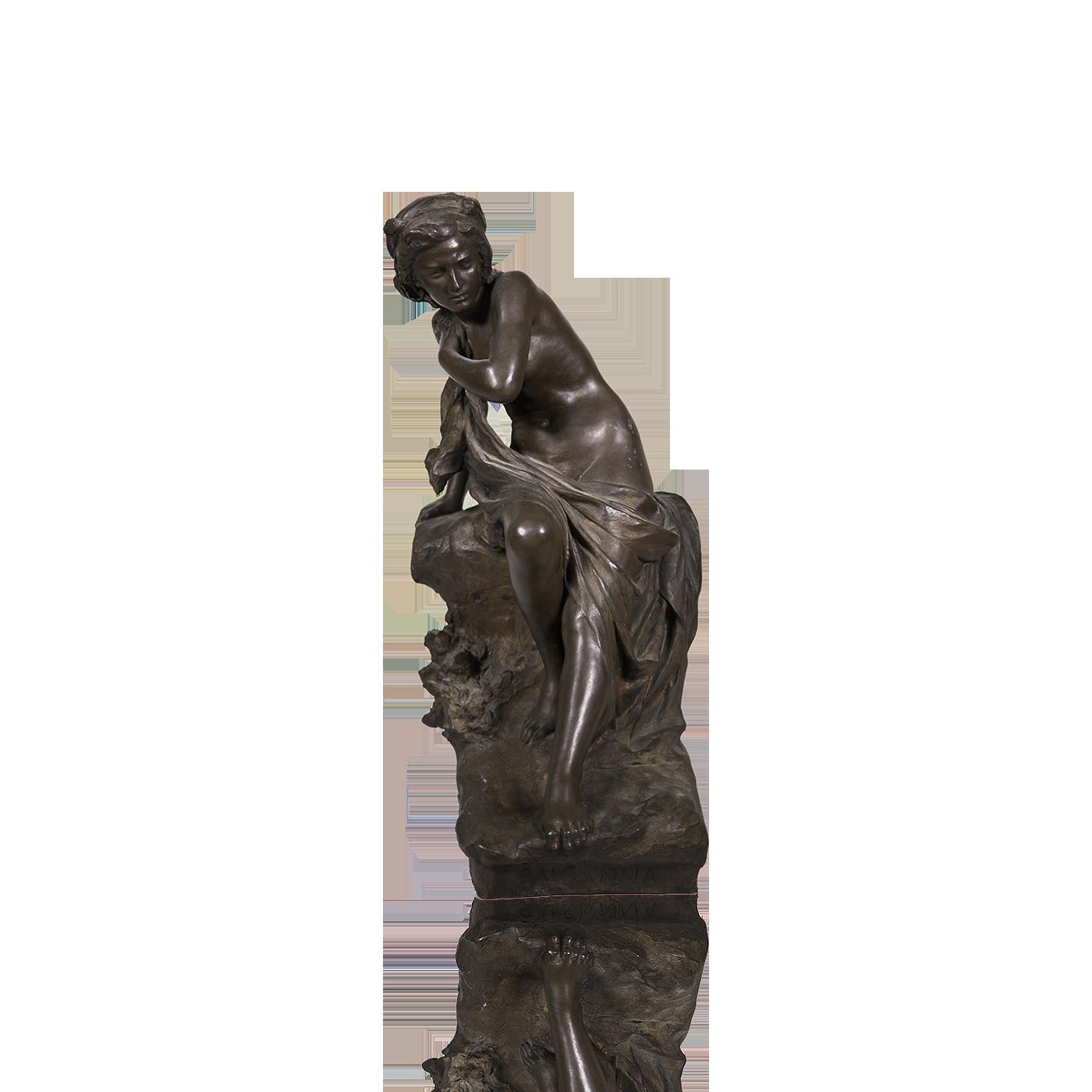 "Antonio Ugo [1870-1956] Italian Sculptor Classical Nude Woman ""Susanna"" circa 1910"
