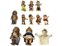 Vintage Steiff collection of Hedge Hogs, Gnomes , and Monkey
