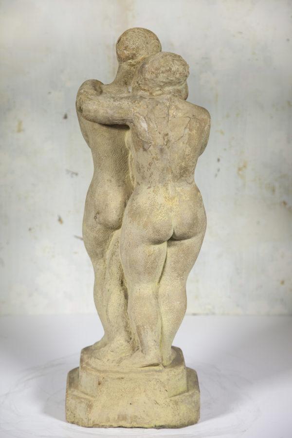 "American School Sculpture ""Young Lovers"" circa 1930"