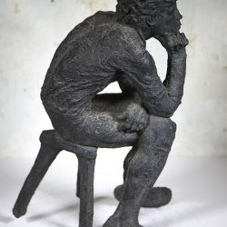 """The Thinker"" American School Bronze Sculpture circa 1960's"