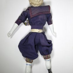 German,China Head,Blue Eyes,Blond, Curly Hair, Boy Doll ,Dressed as Sailor ,circa 1850