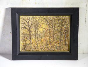 "William Bils (early 20th Century) New York Impressionist Artist ,Prospect Park ,Brooklyn ""Landscape by the Lake"" circa 1920"
