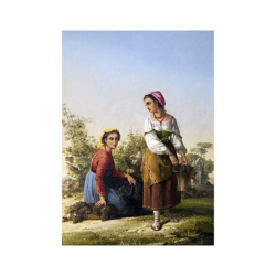 John Linton Chapman [1839-1905] American genre artist : Roman women, 1875.