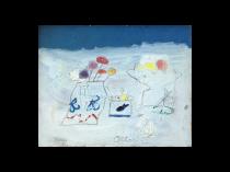 """Edith Schloss [1919-2011] American Modernist Artist """"October 1969"""""""