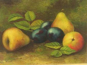 """Carl Frederich Heinrich Werner [1808 - 1894] German painter """"Still Life of Fruit"""" circa 1850's"""