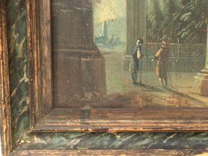 "Italian School ""Figures in a Classical Landscape"" circa 1780-1810"