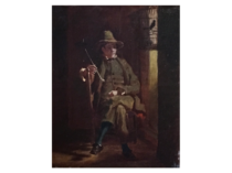 "Att. William Mount [1807-1868] Long Island ,New York artist"" Resting"" circa 1850's"