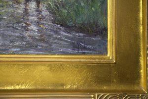 Hal Robinson [1867-1933] American Impressionist Tonalist Painting Forest Glow, c.1920