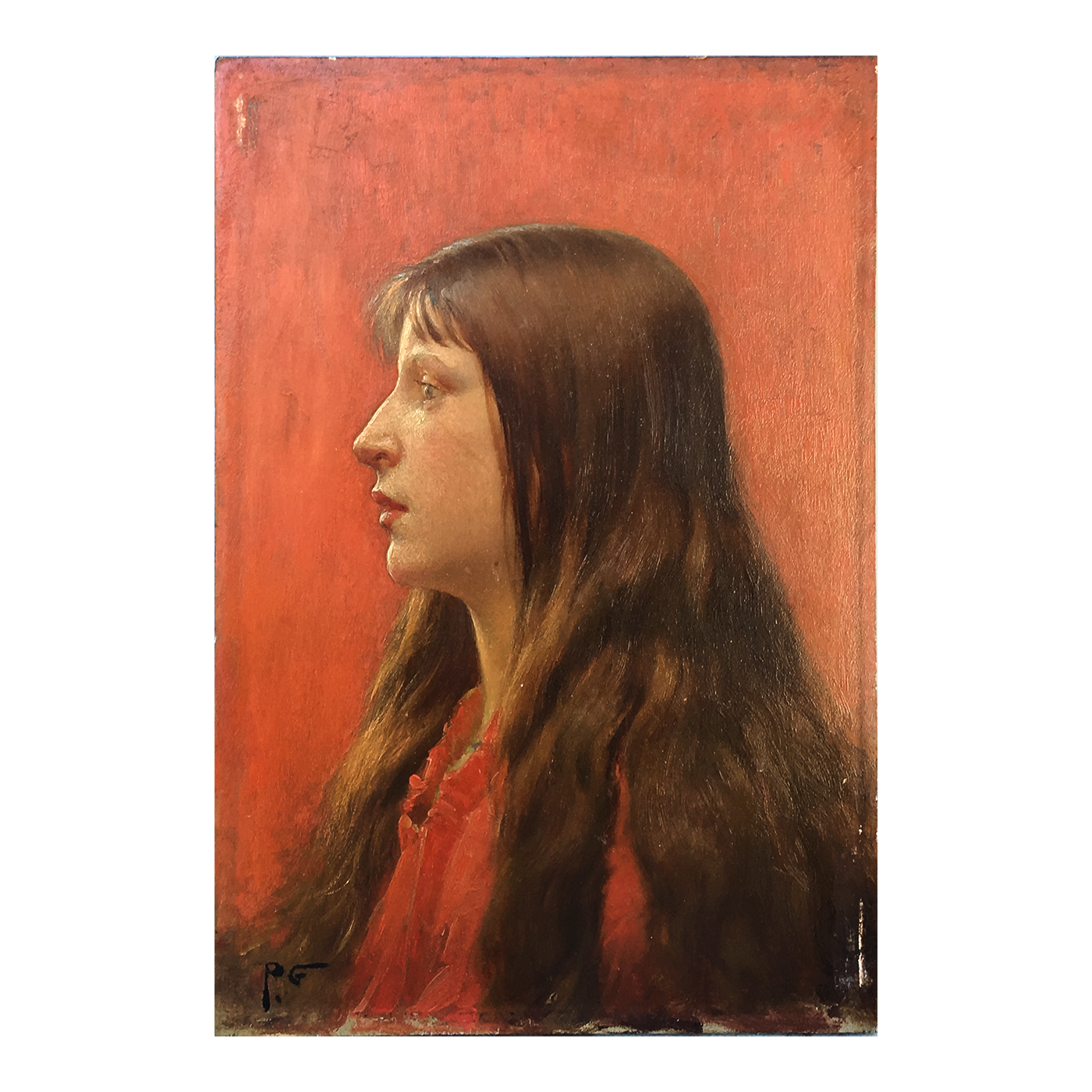 "Unknown Artist ""Portrait of a Young Girl""circa 1900"