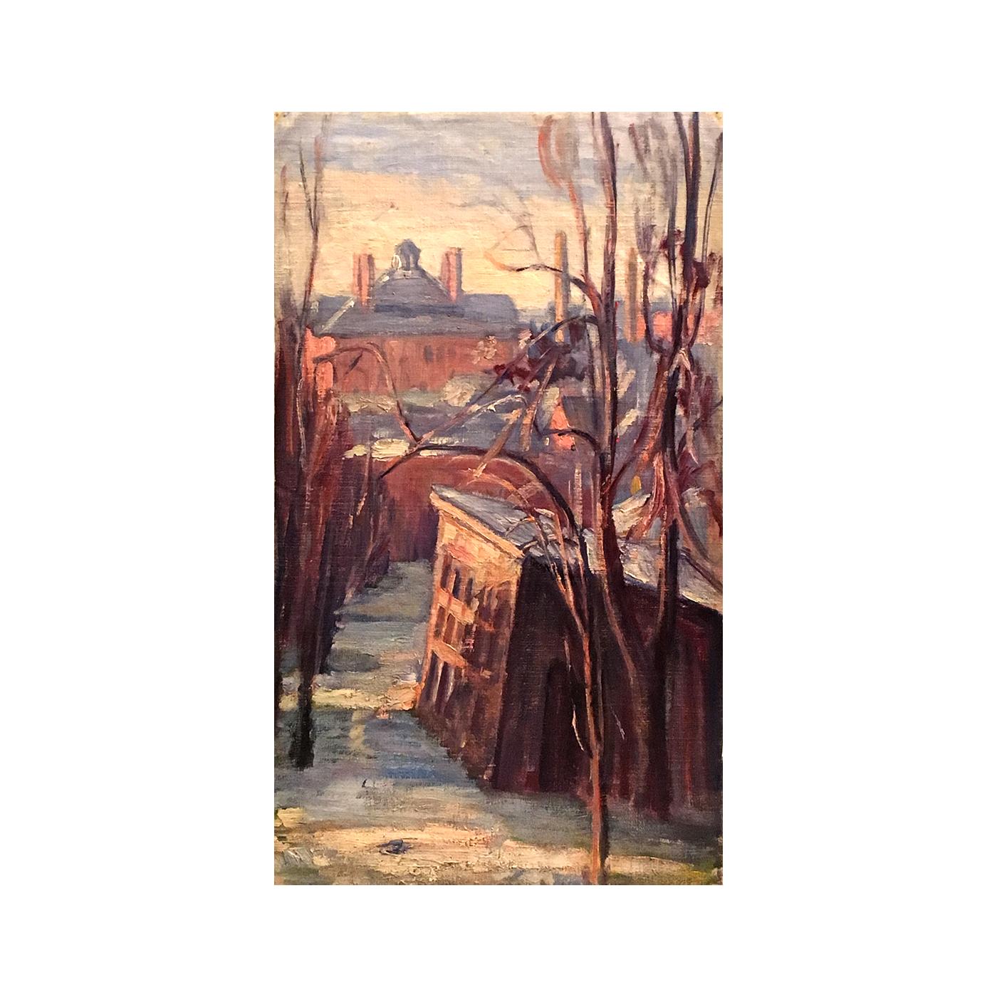 """Ellen Gifford Northern [1873-1944] American Impressionist """" Hagerstown,Maryland"""" circa 1910"""