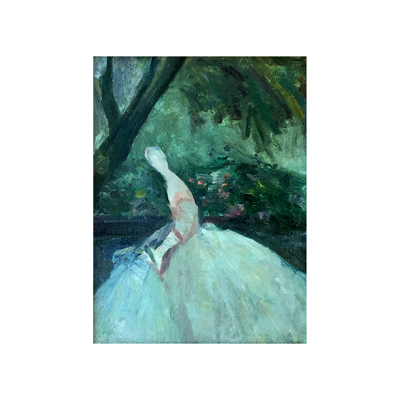 "Antoine Rodondi [1870-1906] French Impressionist ""Figure in the Park"" circa 1895"