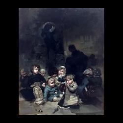 Jules Alexandre Patrouillard DeGrave [1844-1932] French painter : All the children, ca.1875.
