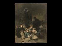"Jules Alexandre Patrouillard DeGrave [1844 - 1932] French Painter "" All the Children"" circa 1875"