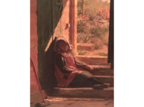 "William Verplanck Birney (1858-1909) American Artist ""Asleep with the Sun"" circa 1890"