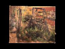 """Joan Orihuel Bartra (1906-1982) Spanish -Argentinian Artist """" Outside my Window"""" 1946"""