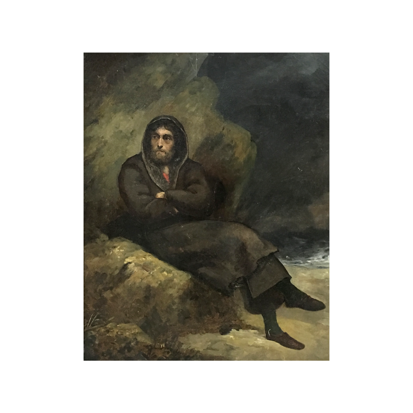 """Emile Jean Horace Vernet [1789 - 1863] French Artist """"Waiting for the Storm"""" circa 1840"""