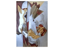 """American modernist abstract carved and guided panel """"The Horse"""" circa 1915-20"""