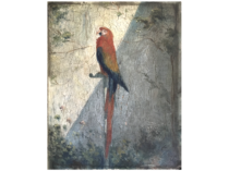 """French School Impressionist painting of """" The Parrot"""" circa 1890"""