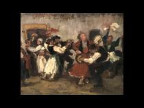"""Karoly Krusnyak [ 1889-1960] Hungarian artist """"Dancing in Celebration"""" 1924"""