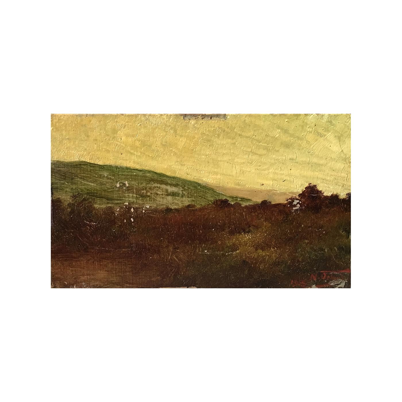 "Nazzarreno Orlandi [1861 - 1952] Argentine Impressionist "" Sunset 1918"""