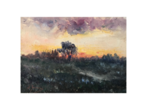 "Jose Torres [ late 19th - early 20th century] Spanish/Argentina ""Sunrise"" ca.1910"