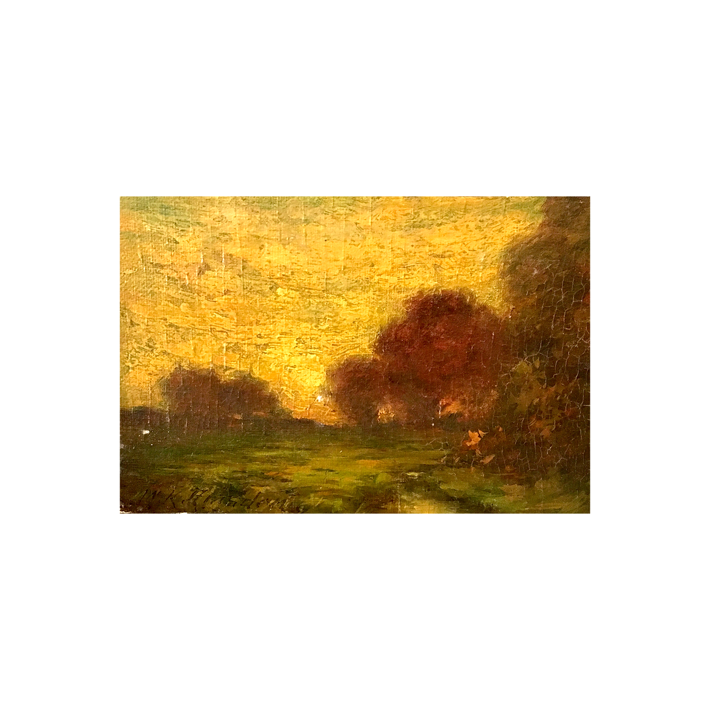 "William King Amsden [1859-1933] American ""Fall Sunrise"" ca.1900"