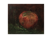 "American School still life ""An Apple"" circa 1870"