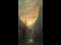 "American school ""Yosemite"", ca.1870."