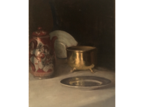 "American School ""Objects on the Table"" circa 1880's"