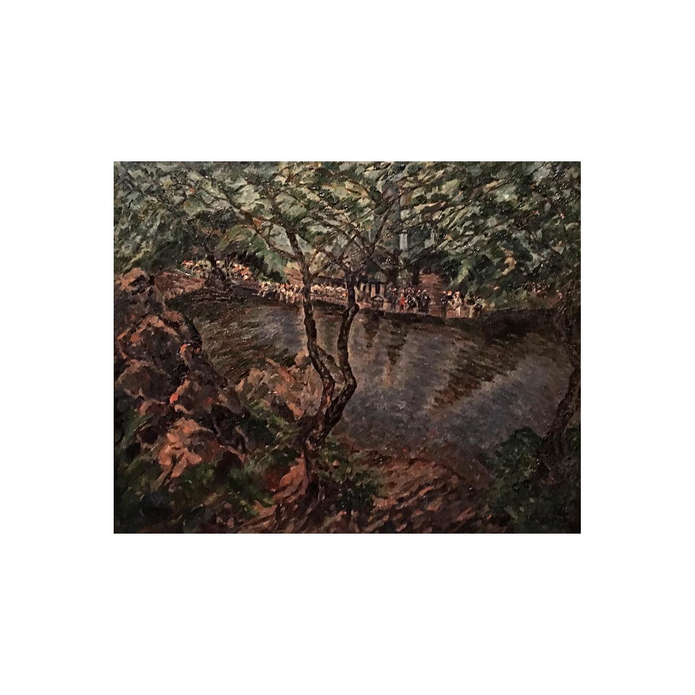"Arthur Schwieder (1884 - 1965) American painter ""Central Park"" circa 1930"