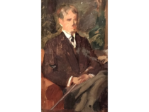 "American School ,New York Impressionist"" Young Seated Man"" circa 1890"