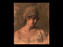 "E Mack [ ?] Germanic School ""Young Beauty "" 1890"